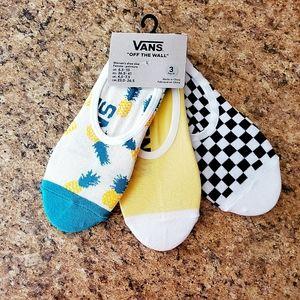 Vans 3 Pack of socks NWT